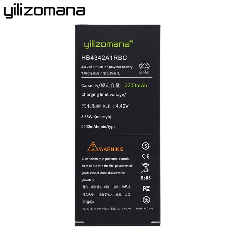 YILIZOMANA Phone Battery HB4342A1RBC For Huawei Y5II Y5 II Ascend 5+ Y6 Honor 4A SCL TL00 Honor 5A LYO L21 High Quality 2200mah