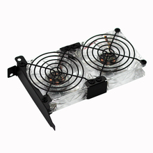 Computer/PC PCI-e Graphics Card stand Cooling 8CM fan Universal GPU led Fan Partner Ultra Quiet Video Card Dual Holder Cooler все цены