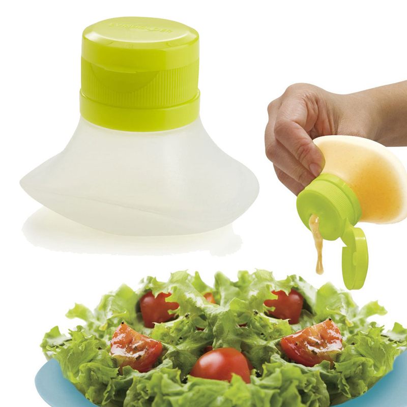 Portable Silicone Squeeze Sauce Bottle Cream Oil Jam Ketchup Salad Condiment Bottles Cake Decoration Tools