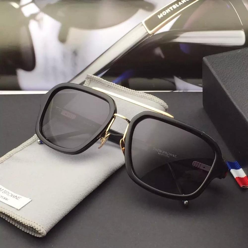 ceb50e70221 2015 THOM BROWNE sunglasses TB 017 Brand Designer New York Brand Sunglasses  Men Women Vintage Fashion SUN Glasses For big face x-in Sunglasses from  Apparel ...