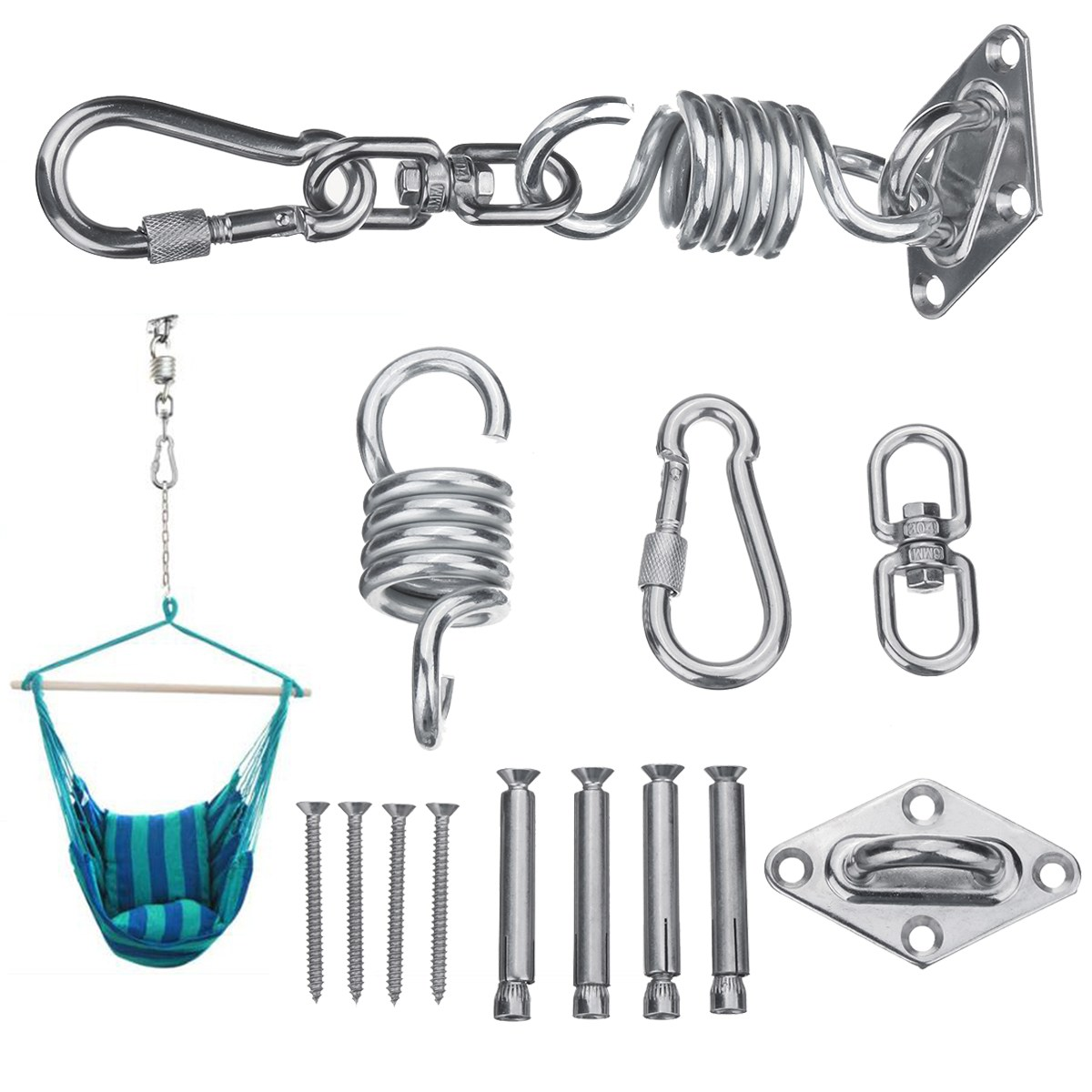 Fitness & Body Building Humorous Hanging Hammock Chair Hardware Ceiling Mount Spring Swing Hook Kit For Garden Swing Kit Accessories