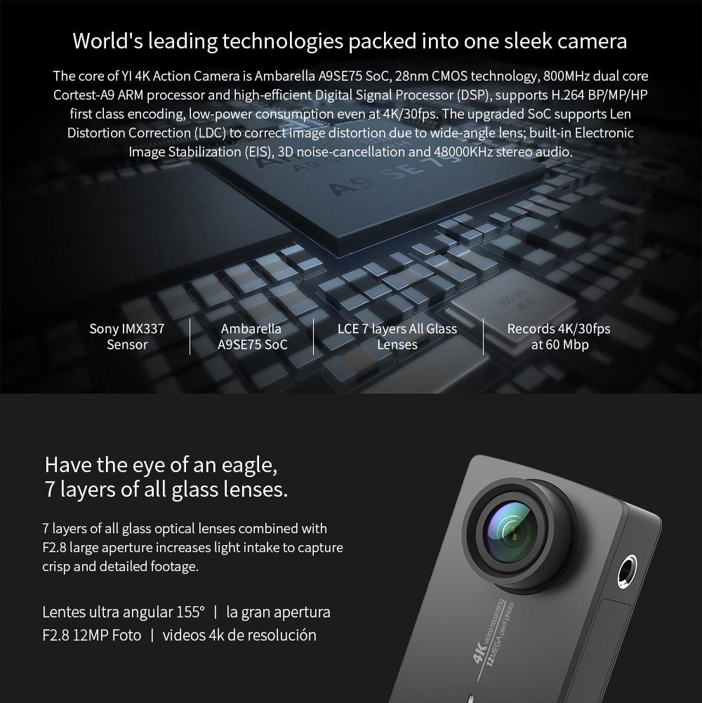 YI 4K Action Camera Bundle With Waterproof Case