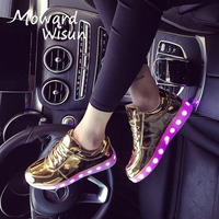 Spansee Size 30 45 Glowing Sneakers With Light Sole Kids Shoes Luminous Shoes Do Infantil Tenis