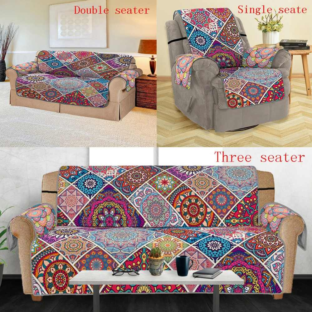 Amazing Apricot Blossom Tree Pattern Sofa Cover Anti Slip Quilted Machost Co Dining Chair Design Ideas Machostcouk