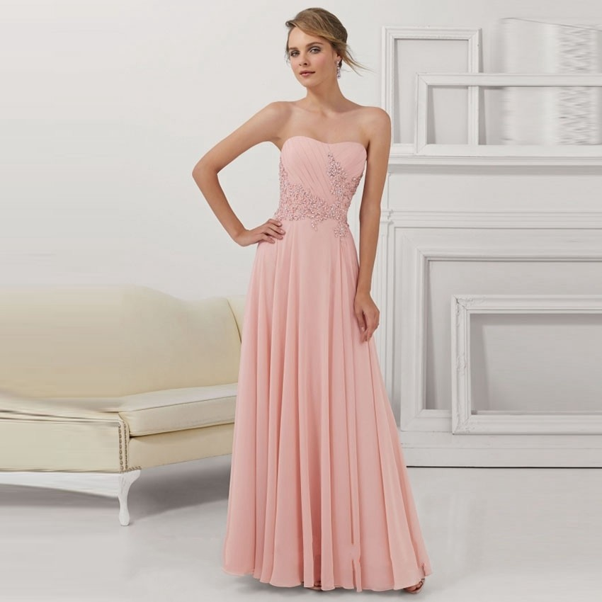 New Design Wedding Gowns: New Design Sexy Strapless Pink Lace Bridesmaid Gowns 2017