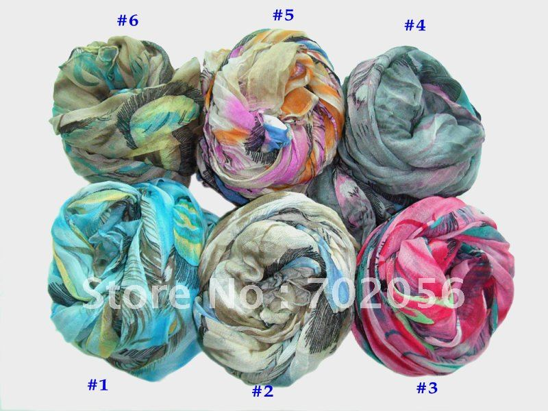 Feather print voile   Scarf   Neck   scarves     scarf     wraps   shawls 180*80cm 11pc/lot #2103