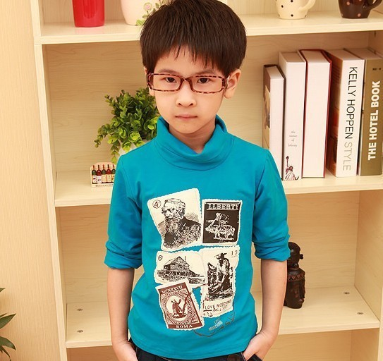Free shipping autumn 2013 new boys'T-shirt Kids boys long sleeved T-shirt children long sleeve T-shirt A067