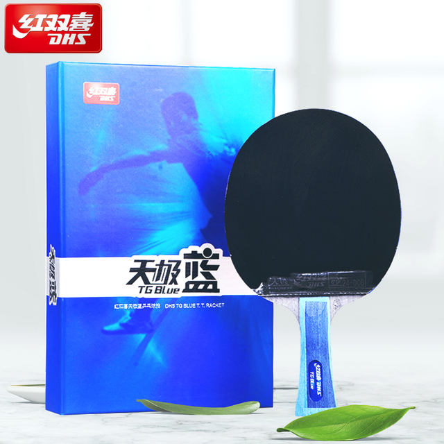Original DHS TB2/TB6 table tennis racket ping pong TG BLUE + Tin Arc  Sponge pimples in rubbers for provincial team with cover
