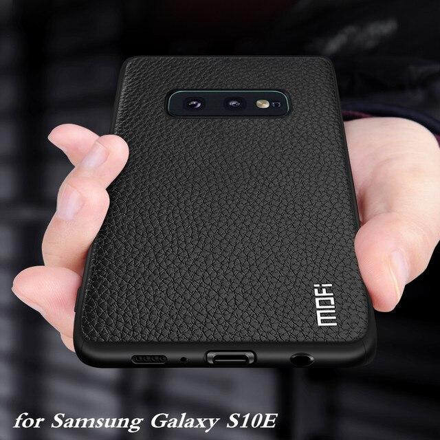 Do Samsung Galaxy S10E etui do S10 Lite okładka S10 E obudowa Coque silikonowy PU skórzany tył TPU MOFi oryginalny
