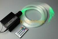 Fiber optik ışık kiti dekorasyon optik fiber celing ışık rgbw led kablosuz çoklu-mod 16 w motor + 0.75mm x 2.5 m x 200 adet fiber