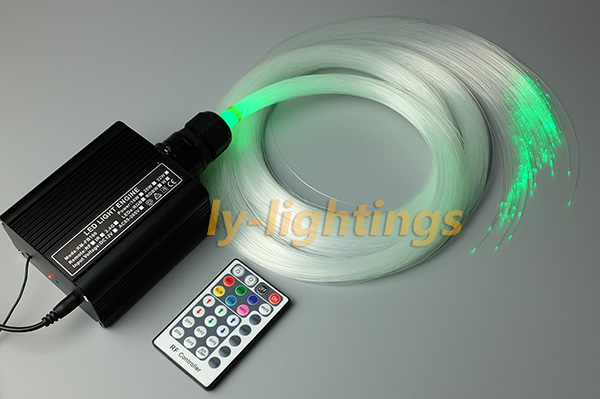 fiber optic light kit decoration optical fiber celing light RGBW LED wireless multi-mode 16W engine+ 0.75mmx2.5mx200pcs fibre decoration optical fiber light kit led light engine cables tailpieces fibre optic color change twinkle effect diy stars