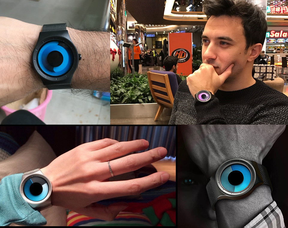 Creative Quartz Watches Men Top FASHION Brand Casual Stainless steel Mesh Band Unisex Watch Clock Male female Gentleman gift