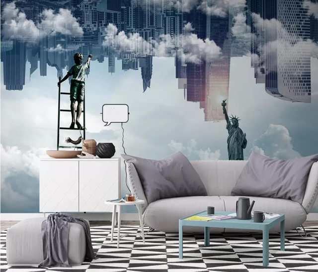 Gentil 3d Wallpaper TV Background City Cloud Wallpapers 3D Wall Living Room  Wallpaper Mural Bedroom Decorative Wall Paper In Wallpapers From Home  Improvement On ...