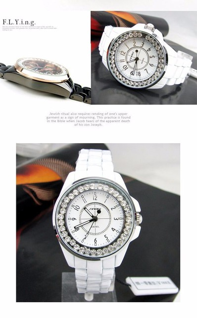 Ladies Gold Diamond female Watch 5