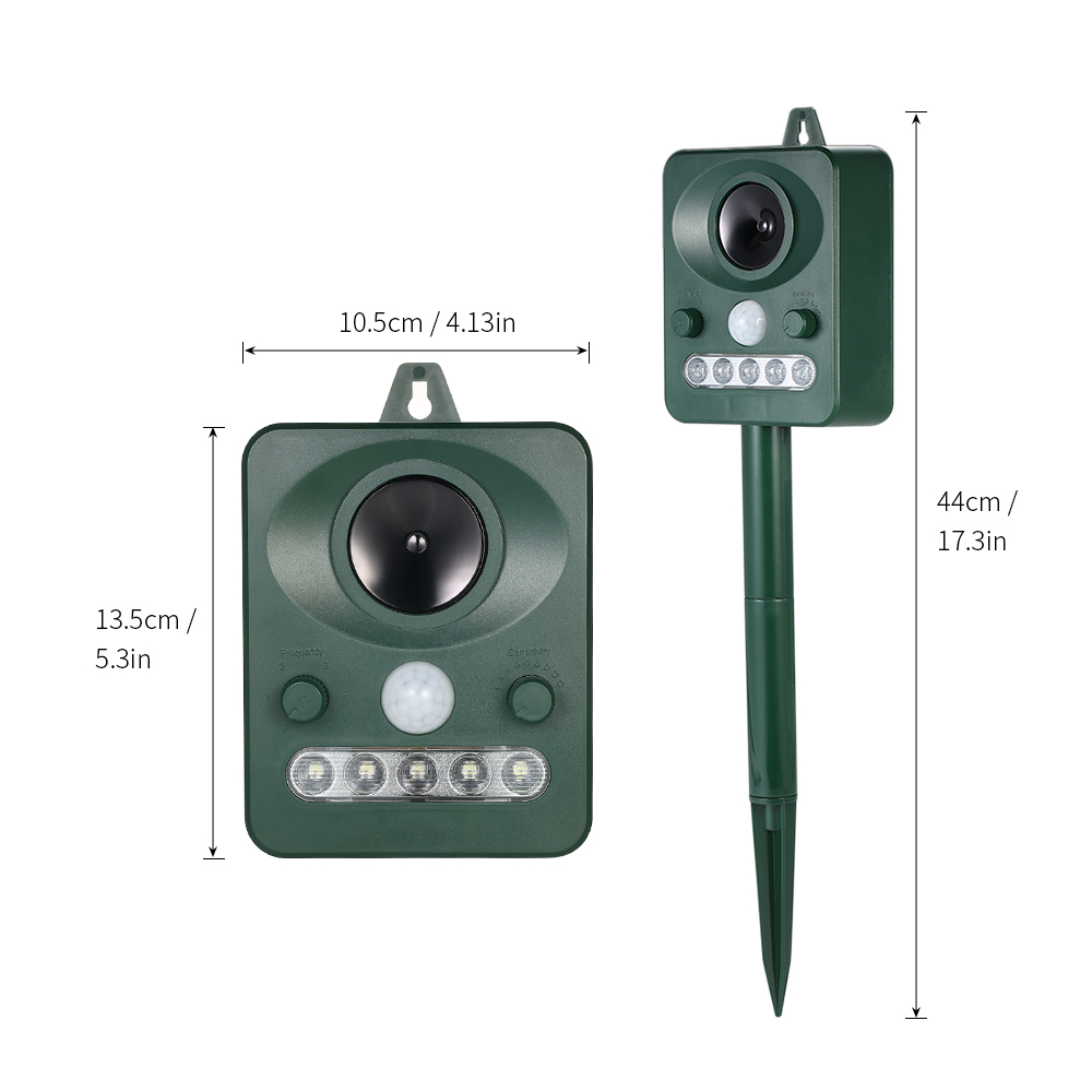 Solar Powered Ultrasonic Pest Animals Repeller Outdoor Animal Repellent Repelling Dogs Birds Flashing LED Frequency in Repellents from Home Garden