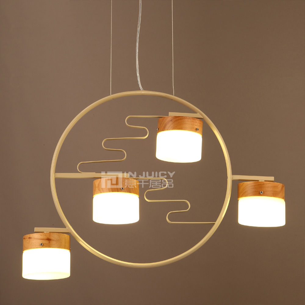 Chinese Nordic Cafe Loft Bar Wood Glass LED Lamp Chandelier Ceiling Light Dining loft vintage edison glass light ceiling lamp cafe dining bar club aisle t300