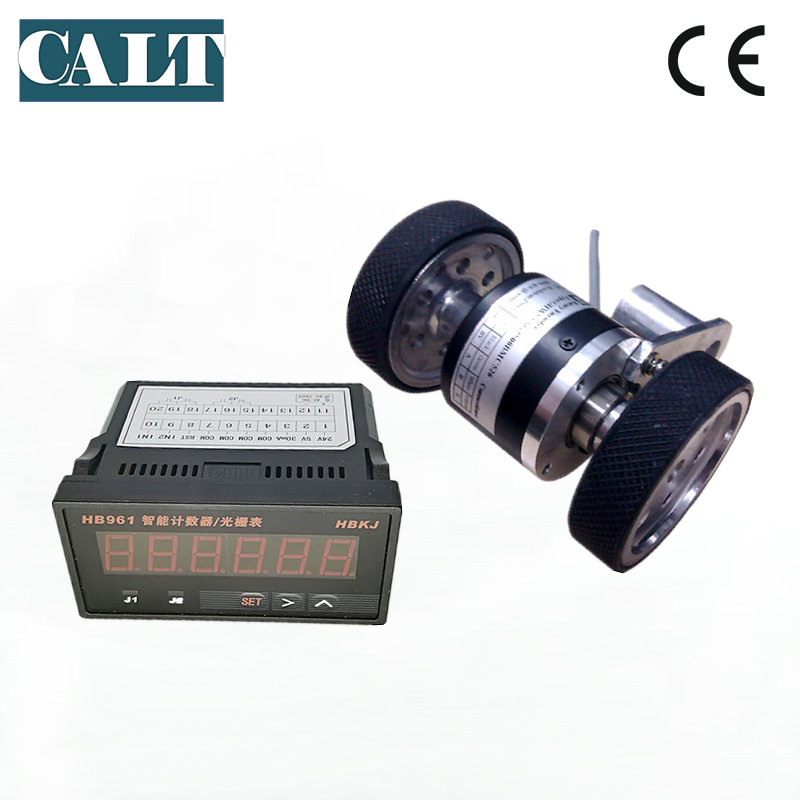 CALT GHW52 Roller wheel encoder length measuring counter 200mm circumference wheel with 6 digit counter HB961 Level Measuring Instruments     - title=