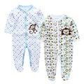 Mamelucos del bebé ropa de primavera de manga larga 100% algodón recién nacido niño niña pijamas next body ropa del bebé mono cp-8