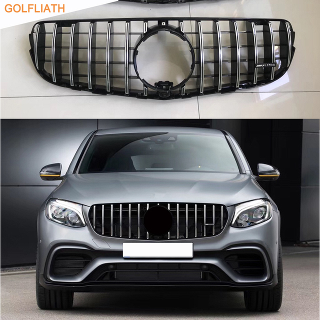 GOLFLIATH AMG Front Grille Center Grill For 2014 2017