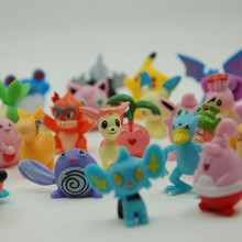 144pcs Pikachu Anime Action Figures Toy Mixed 2-3cm Mini Plastic Anime Dolls Figure Toys For Children Gifts