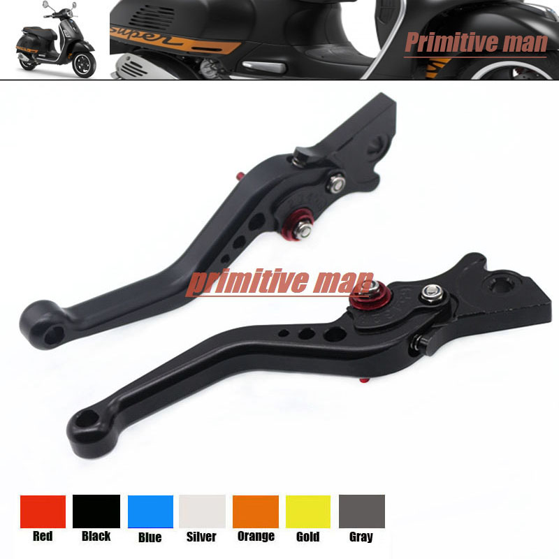 For Vespa 300/250/200 Granturismo /GTS300/GTS250 Billet Aluminum Adjustable Short Left Right Brake Levers Black