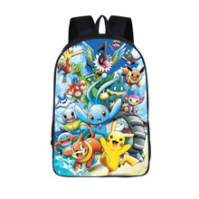 Anime Pokemon Daily Backpack Boys Girls School Bags Pikachu Prints Backpack For Teenagers Kids Gift Backpacks Schoolbags Mochila