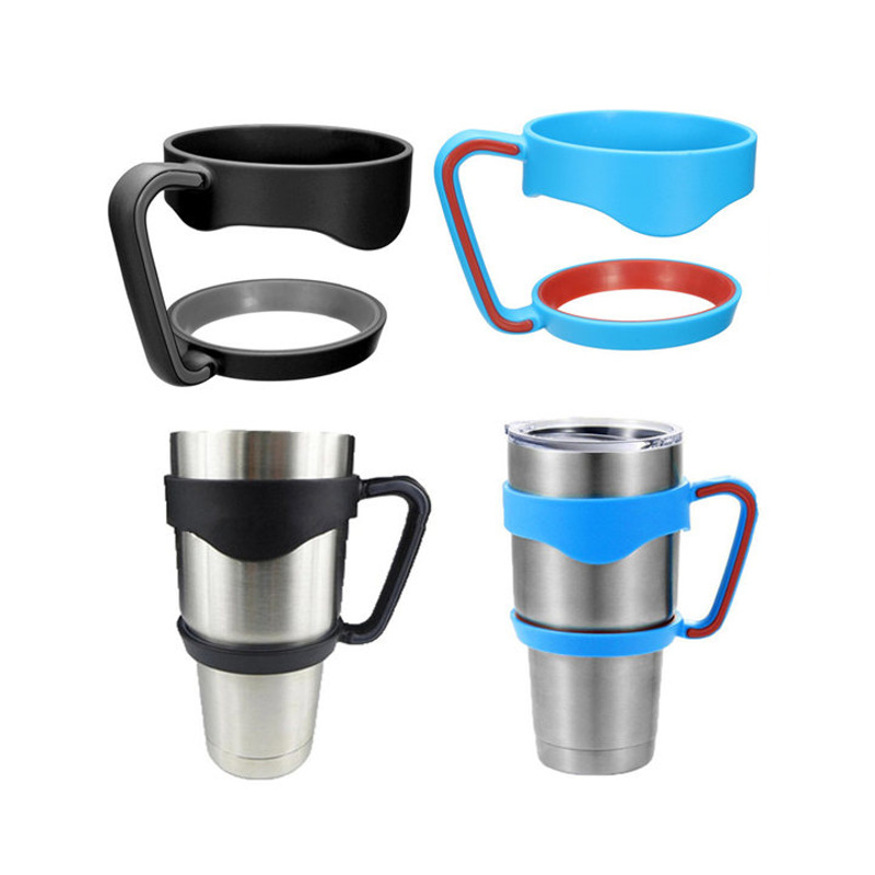 Portable Plastic Black Water Bottle Mugs <font><b>Cup</b></font> <font><b>Handle</b></font> For <font><b>YETI</b></font> 30 Ounce <font><b>Tumbler</b></font> <font><b>Rambler</b></font> <font><b>Cup</b></font> Hand <font><b>Holder</b></font> Fit Travel Drinkware