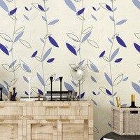 beibehang German suede non woven living room wallpaper modern fashion autumn leaf three dimensional 3D wallpaper