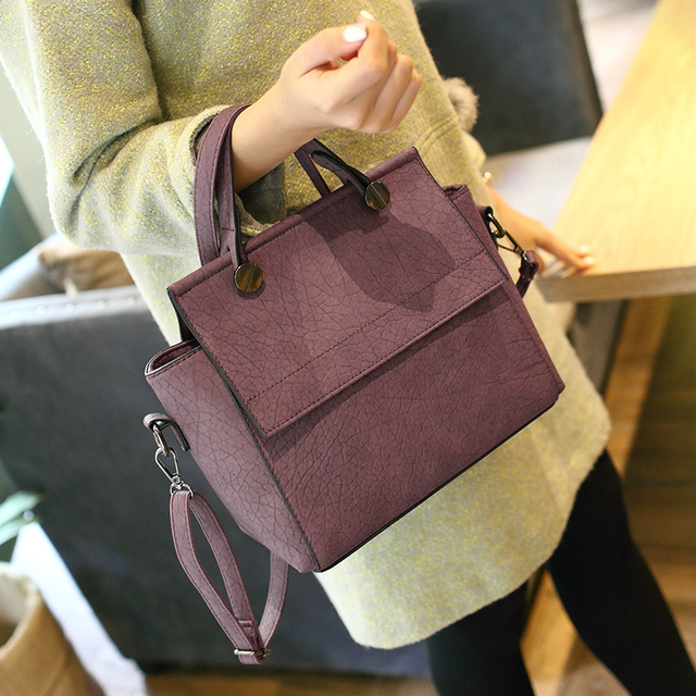 Bolish Vintage Trapeze Tote Women Leather Handbags Ladies Party Shoulder Bags Fashion Female Messenger Bags bolsa feminina