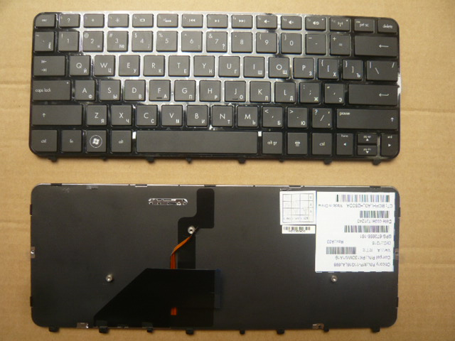 New Laptop keyboard for HP FOLIO13 RU/Russian  layout new and original black ru laptop keyboard with frame for metabox p170sm ru layout