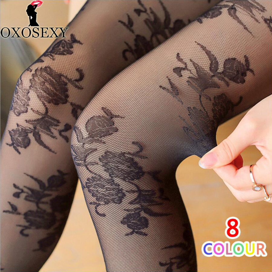 Brand T crotch 3D embossed rose flower Retro princess lace pantyhose Women stockings Thin Mesh stockings sexy tights For Girl 52