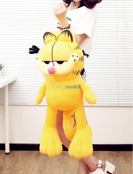 Fancytrader 51\'\'  130cm Super Cute Soft Giant Plush Garfield Cat, Nice gift for Child,Free Shipping FT90252 (1)