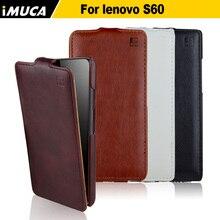 Lenovo S60 чехол мода откидной кожаный чехол для Lenovo S60 S60T вертикальный откидной вверх и вниз телефон чехол iMUCA бренд 4 цветов