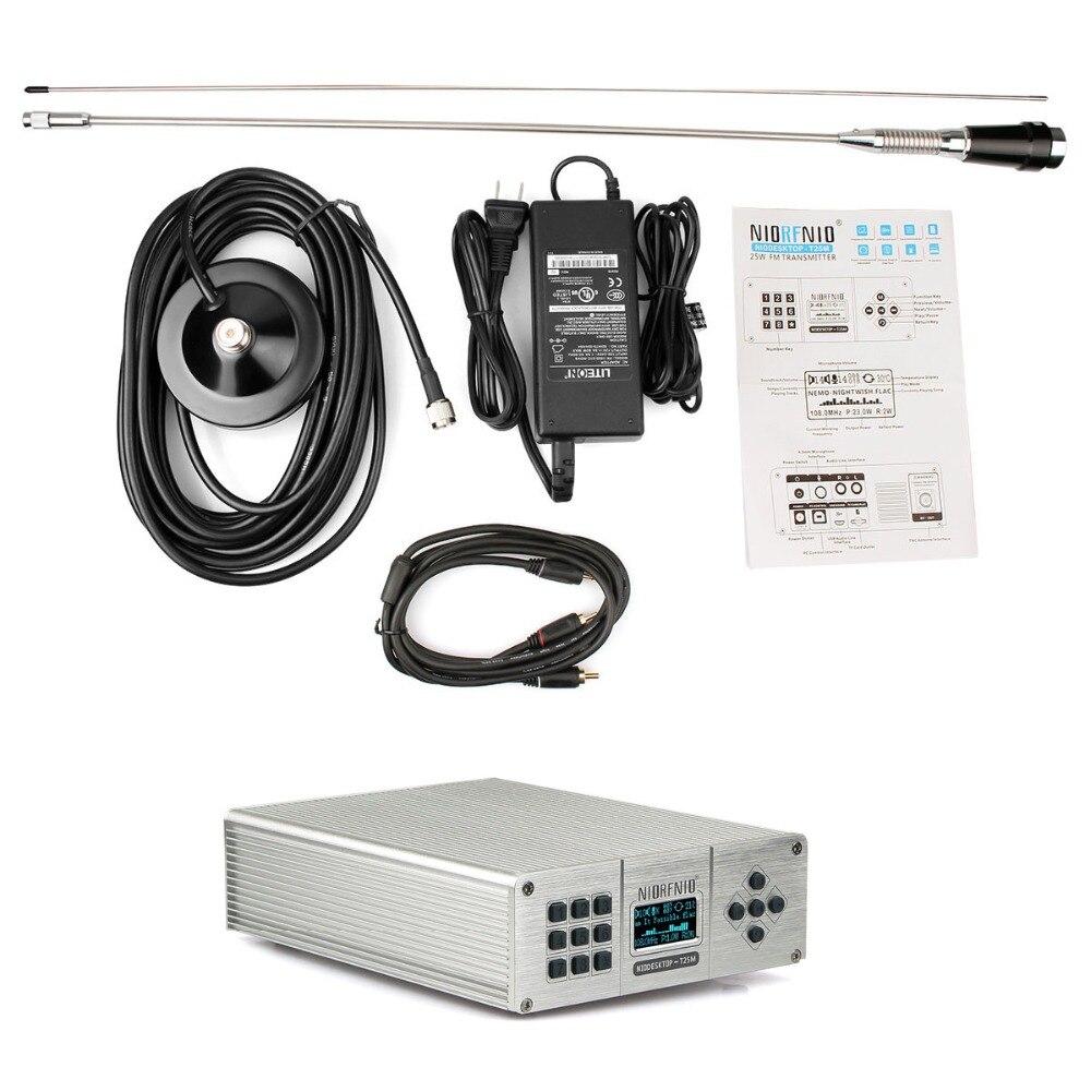 25 w PLL Trasmettitore FM Mini Radio Stazione Stereo Senza Fili di Musica Lossless Trasmissione + Power + Antenna Y4441A