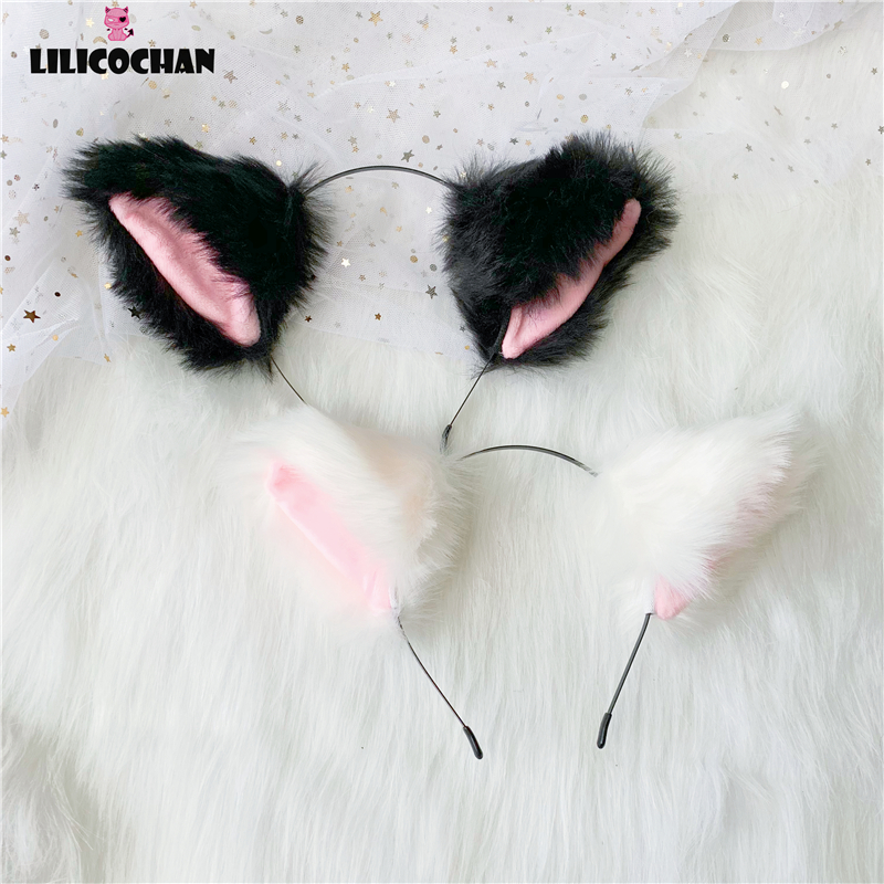 Hot sweetie lovely Anime lolita Cosplay Fancy Neko Faux Fox Fur Cat Ears Long Fur Hair sexy Headband Party Costume Erotic toys