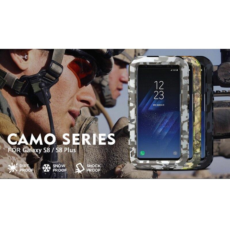 imágenes para LOVEMEI CAMO Metal de la Serie Para Samsung Galaxy Teléfono S8 Plus Ejército Camuflaje Armor Defensor A Prueba de Golpes Caso de La Contraportada