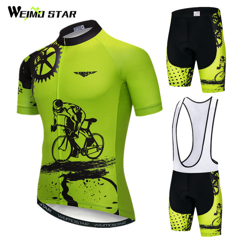 Weimostar 2019 Cycling Jersey Set Men Short Sleeve MTB Bike Clothing Ropa Ciclismo Team Downhill Bicycle Jersey Maillot Ciclismo