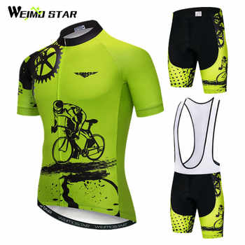 Weimostar 2020 Cycling Jersey Set Men Short Sleeve MTB Bike Clothing Ropa Ciclismo Team Downhill Bicycle Jersey Maillot Ciclismo - DISCOUNT ITEM  45 OFF Sports & Entertainment