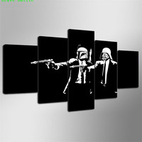 Darth Vader Star wars 3 5 Pieces Canvas Painting Print Living Room Home Decor Modern Wall Art Oil Painting Poster