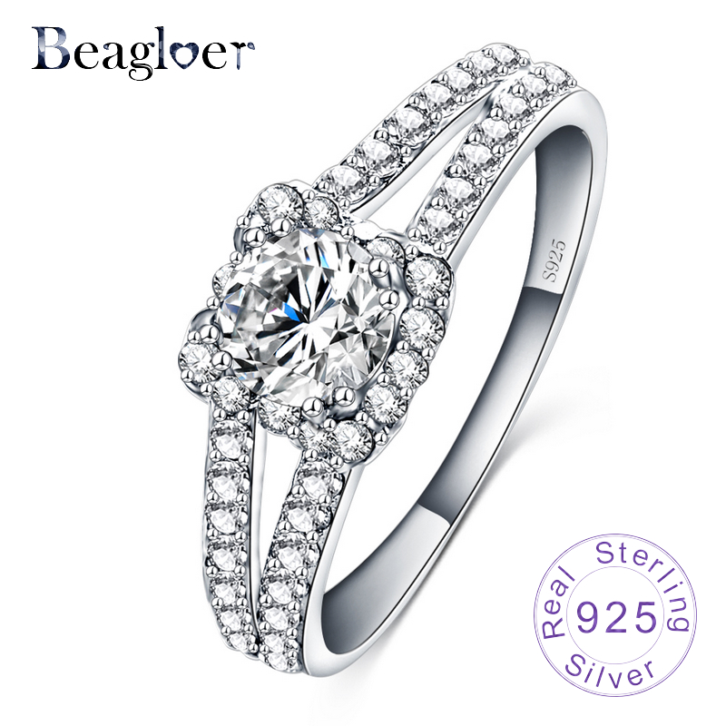 beagloer top selling elegent wedding rings 100 925 sterling silver ring bijoux women luxury fine - Selling Wedding Ring