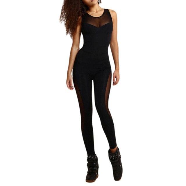 כושר יוגה נשים חליפת ספורט אימונית סט ללא משענת סרבלים הדוקים חותלות ספורט אימון חדר כושר ריצת ספורט סט בגדים