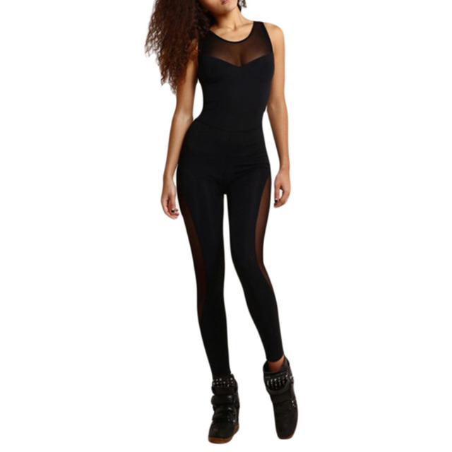Women's Backless Gym Jumpsuit