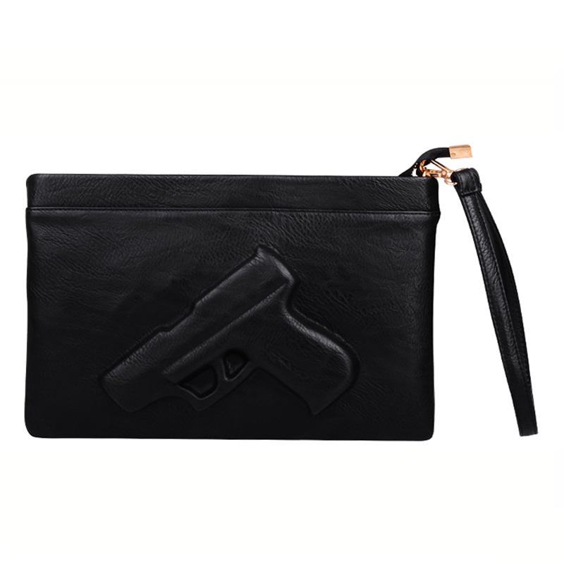 3D Print Gun Women Messenger Bag Handbags Designer Pu Leather Clutch Women Shoulder Bags For Ladies Crossbody Bag Envelope Tote new punk fashion metal tassel pu leather folding envelope bag clutch bag ladies shoulder bag purse crossbody messenger bag