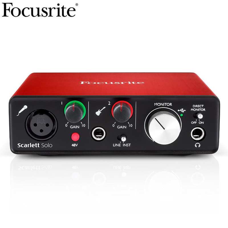 new version focusrite scarlett solo 2nd gen 2 input 2 output usb audio interface sound card. Black Bedroom Furniture Sets. Home Design Ideas