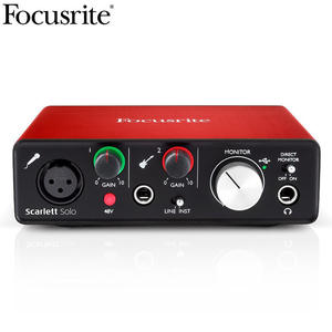 Focusrite Scarlett USB audio interface sound card for recording Microphone Guitar