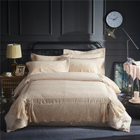 Deluxe риса желтый тонкий шнурок кровать юбка шелковистой шелк, хлопчатобумажные ткани Постельное белье пододеяльник постельное белье лист н
