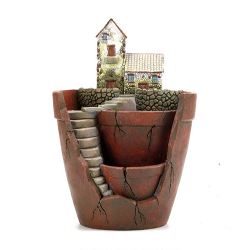 Flower Pots Garden Planters Resin Creative For Succulent Plants Diy Z Decorative Plant Pot Home Decoration In From