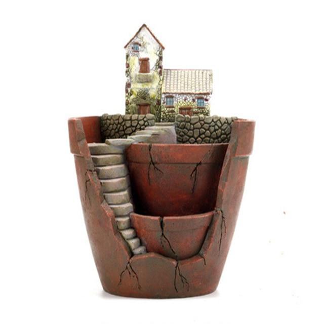fairy garden pots. Flower Pots Garden Planters Resin Creative For Succulent Plants DIY Zakka Decorative Plant Pot Fairy