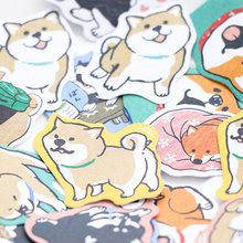 Cute Dog Shaped Paper Sticker Set