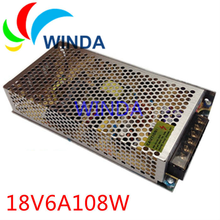 108W switching power supply output 18V6A full range can be applies for all countries centralized power supply 20v 1 2a power module 220v to 20v acdc direct switching power supply isolation can be customized